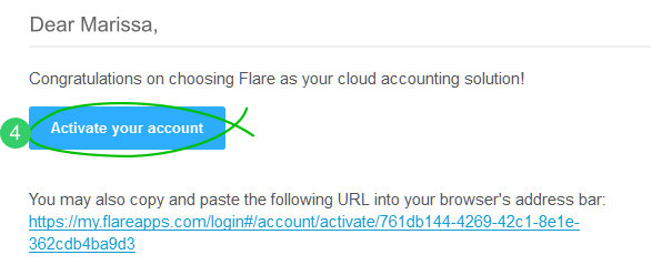 Activate your Flare account
