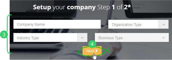 Setup Step 1: company info