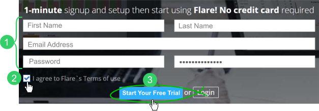 Register for Flare